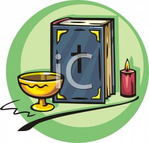 A candle and royalty. Chalice clipart bible