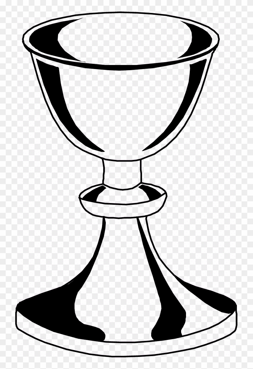 Chalice clipart black and white. Daring host coloring page