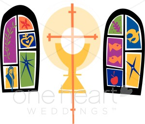 Stained glass windows with. Chalice clipart church