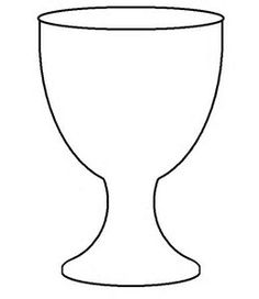 Goblet template for first. Chalice clipart eucharist