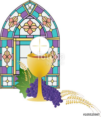 Symbol of bread and. Chalice clipart eucharist