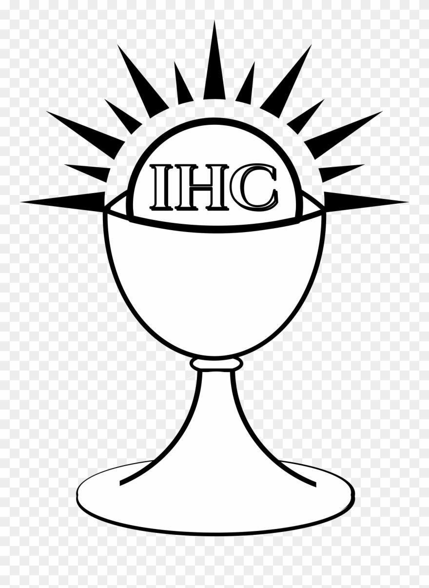 Eucharist first liturgy host. Communion clipart chalice