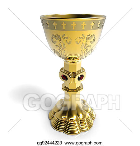 Chalice clipart gold chalice. Stock illustration golden gg