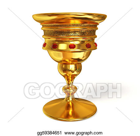 Chalice clipart golden chalice. Stock illustration drawing gg