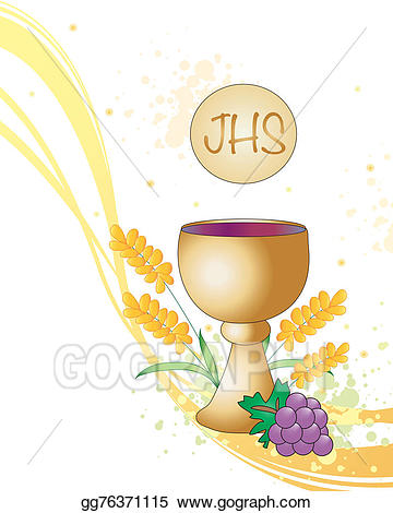 Chalice clipart holy communion. Stock illustration first art