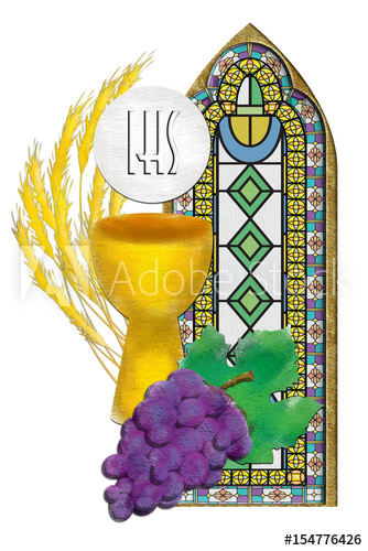 Eucharist symbols with and. Chalice clipart host