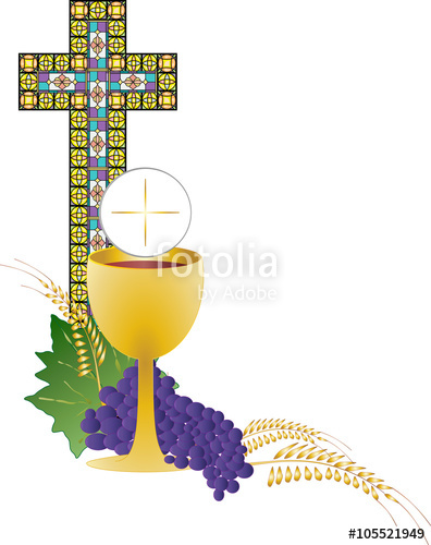Eucharist symbol of and. Clipart bread host