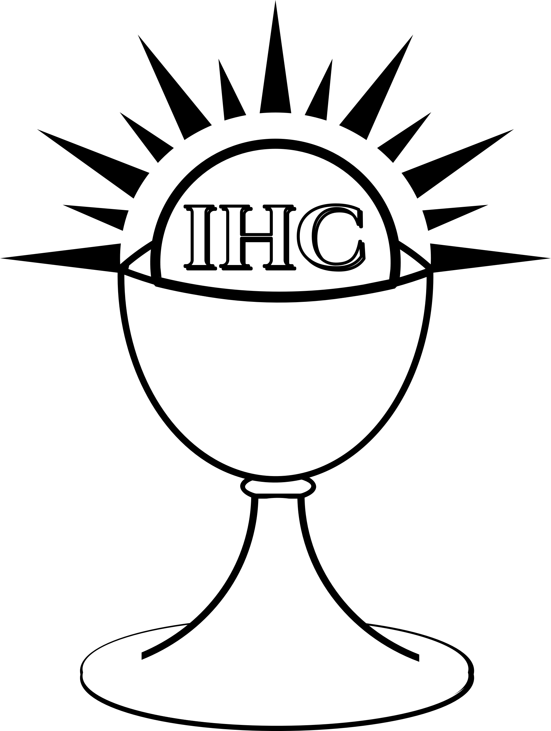 Chalice and big image. Communion clipart communion host
