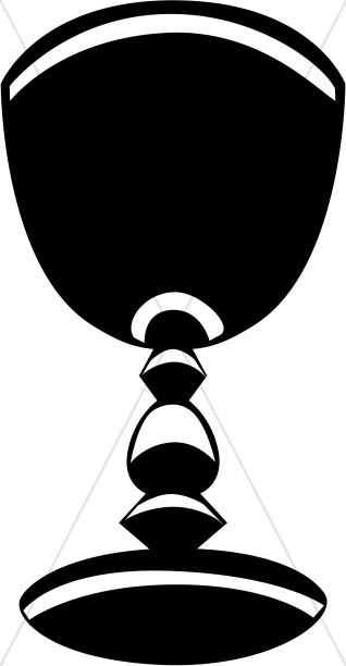 Chalice clipart jewelled. Black and white striped