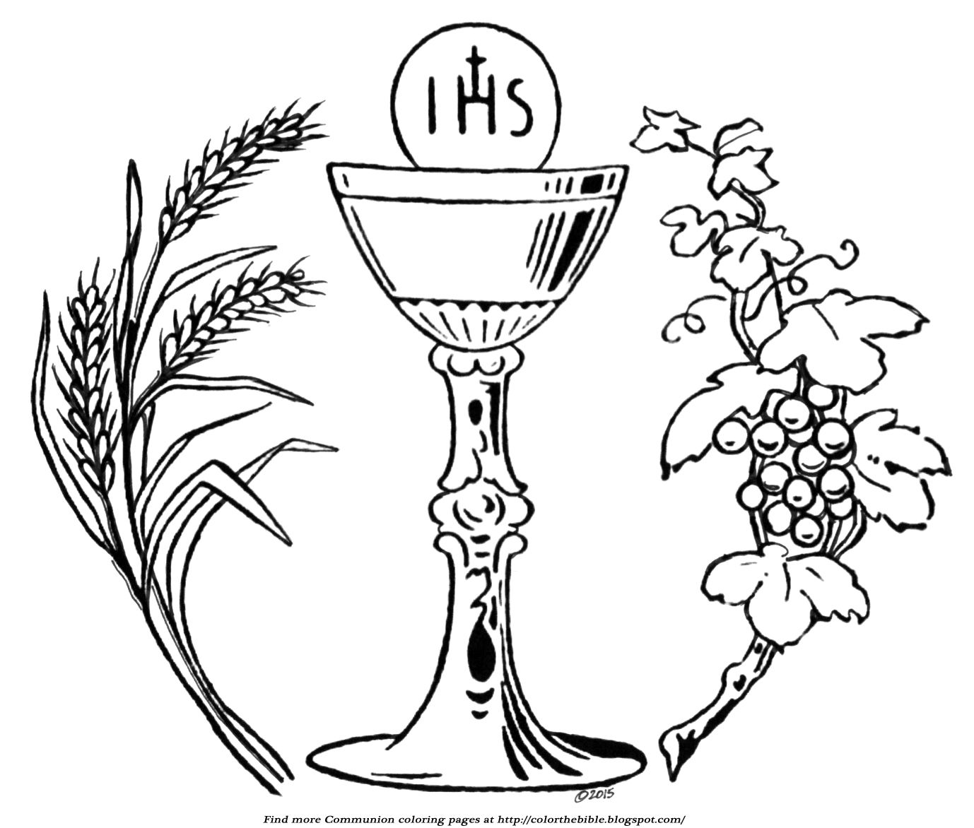 Chalice clipart logo. Sensational coloring page holy