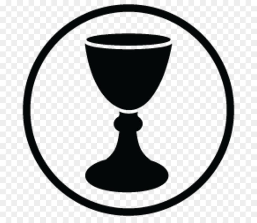 Wine background eucharist line. Chalice clipart logo