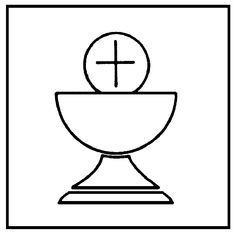Chalice clipart outline. First communion banner supplies