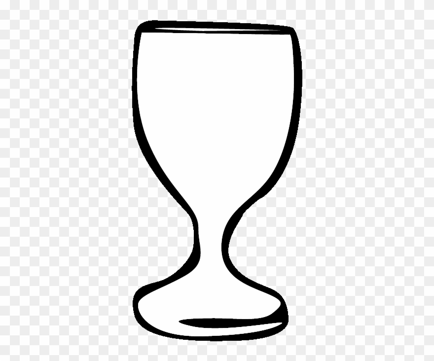 Host and colouring pages. Chalice clipart outline