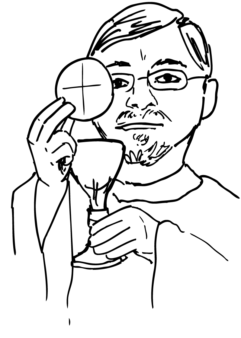 Chalice clipart priesthood. Catholic priest drawing at