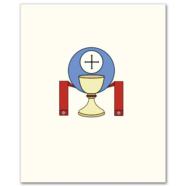 And host with stole. Chalice clipart priesthood