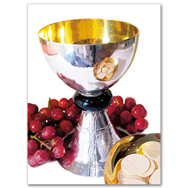 Grapes and paten photo. Chalice clipart priestly ordination