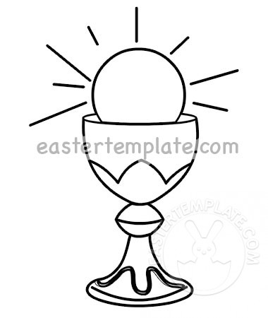 Catholic host coloring page. Chalice clipart printable