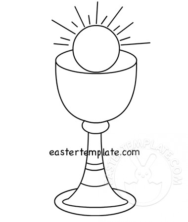 First holy communion eucharist. Chalice clipart printable