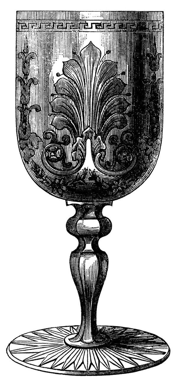 Wine clip art antique. Glass clipart vintage glass