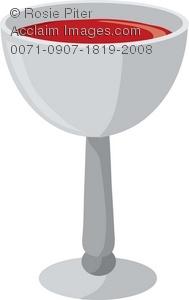 Chalice clipart wine chalice. Clip art illustration of