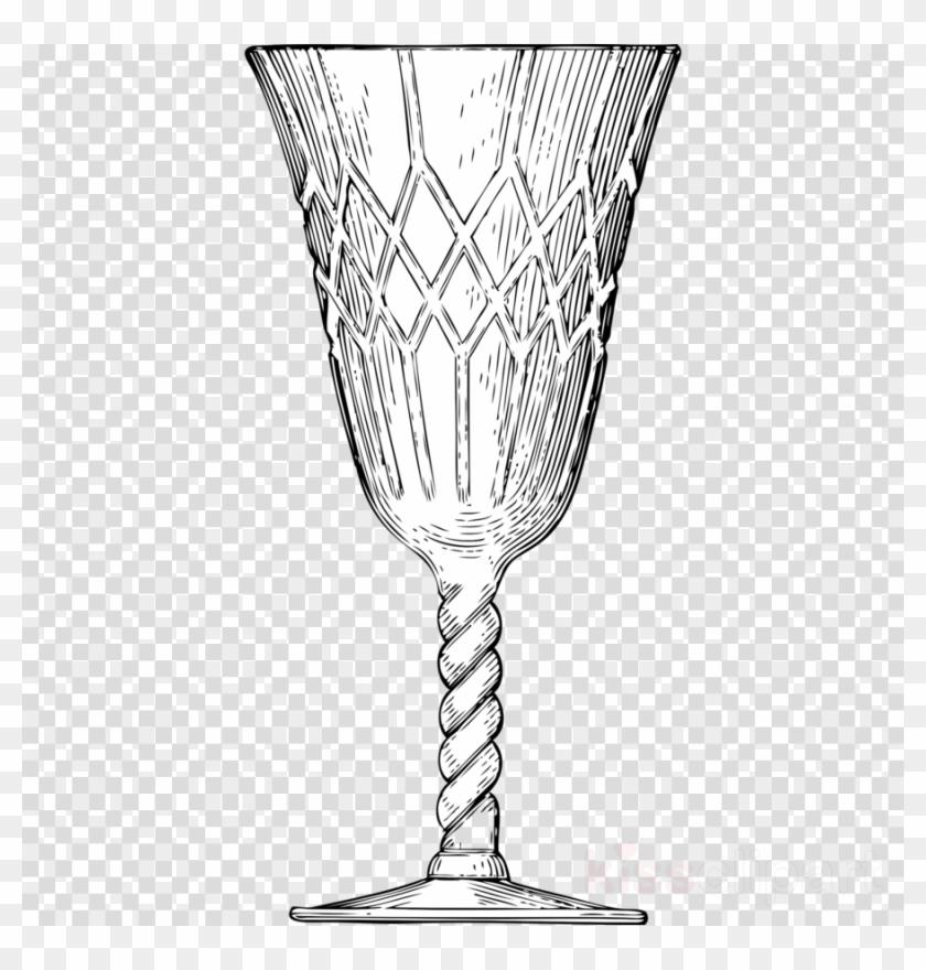 Calice di cristallo glass. Chalice clipart wine chalice