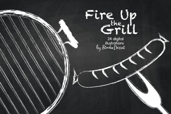 Barbeque cliparts chalkboard grill. Chalk clipart beer