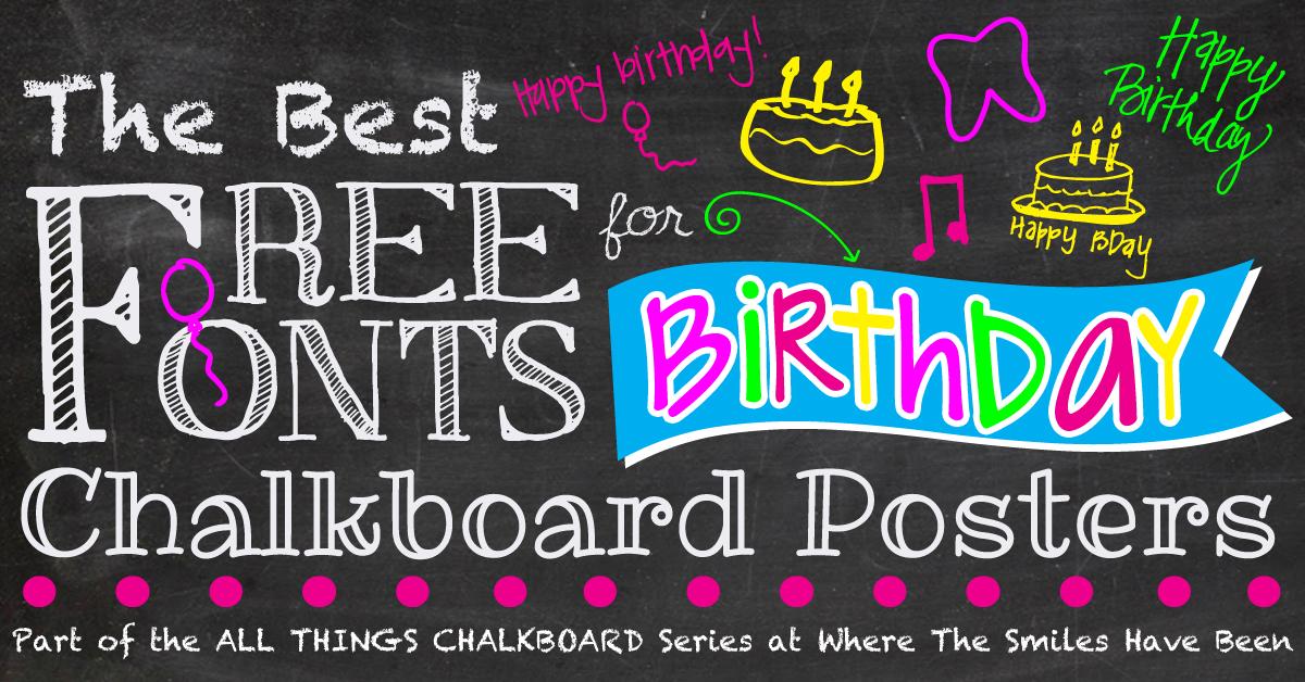 chalk clipart birthday