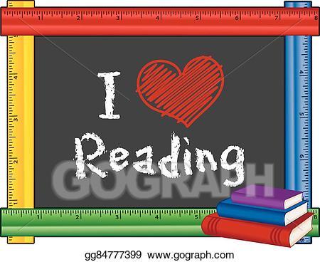Chalk clipart book. Eps vector i love