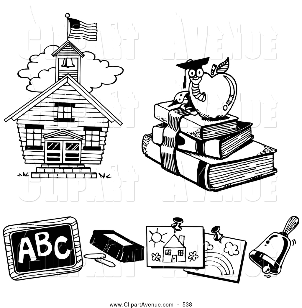 Avenue of a learning. Chalk clipart book