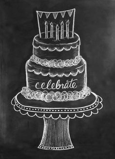 Chalk clipart cake.  collection of birthday