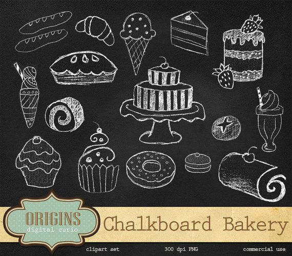 Chalkboard bakery png cupcakes. Chalk clipart cake
