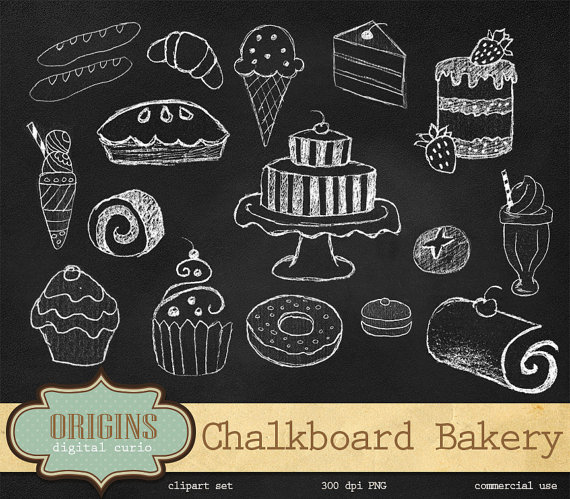 Chalk clipart cake. Free chalkboard cliparts download