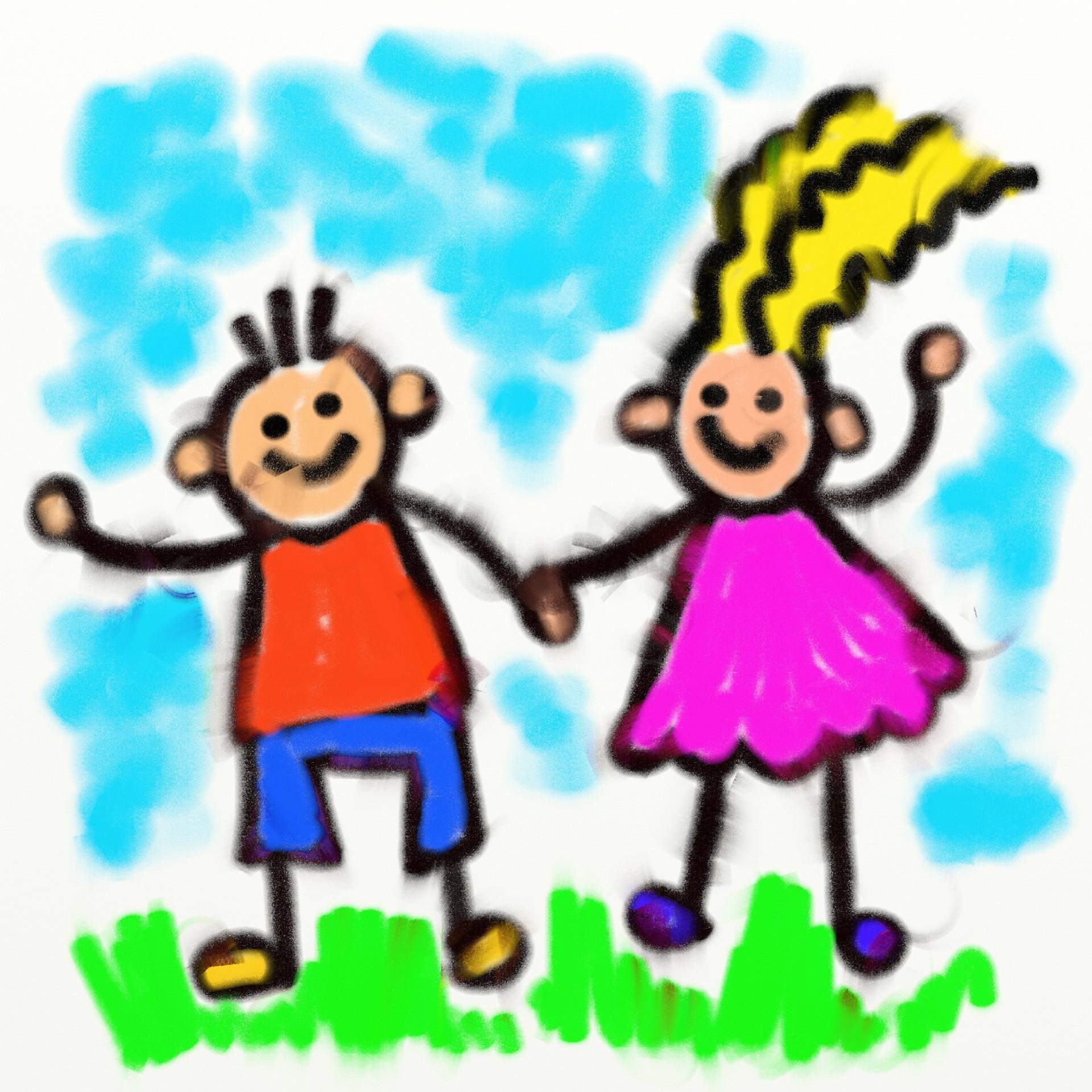 Smudge kids free stock. Chalk clipart cartoon