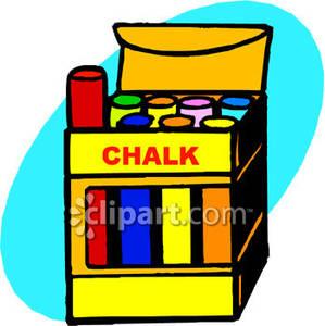 Box . Chalk clipart cartoon