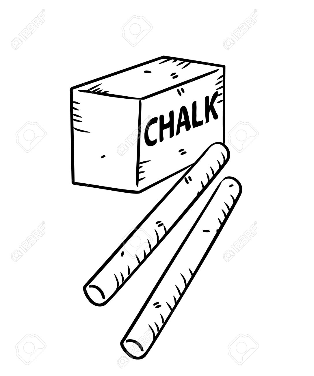 Chalk clipart chalk stick. White drawing at getdrawings