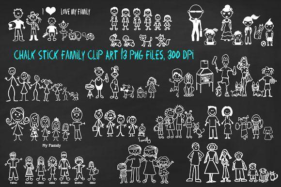 Family clip art png. Chalk clipart chalk stick