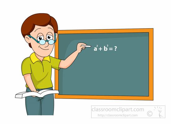 School math writing expression. Announcements clipart teacher