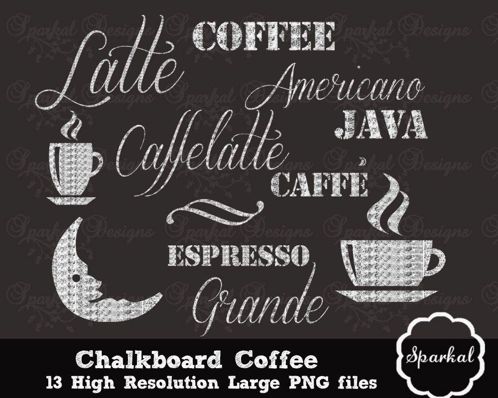 Cafe chalk menu boards. Coffee clipart chalkboard