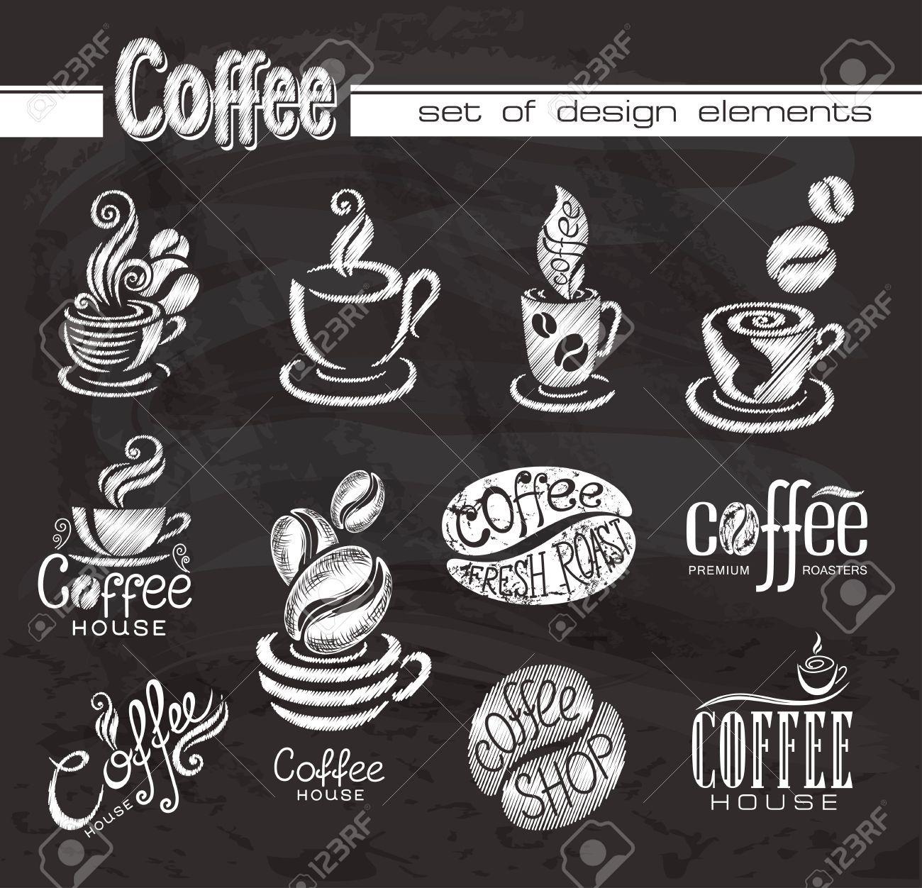 Chalkboard designs google search. Chalk clipart coffee