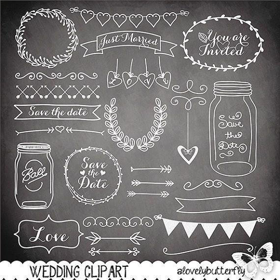 Chalk clipart doodle.  best wedding doodles