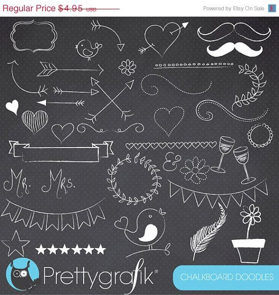 Chalkboard doodles commercial use. Chalk clipart doodle