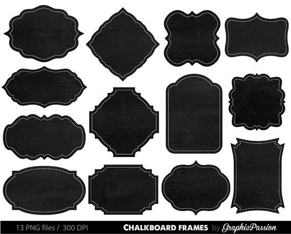 Chalkboard clipart frame. Border clip art chalk