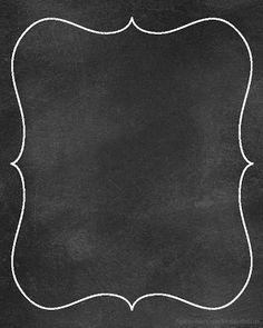 Chalkboard clipart frame.