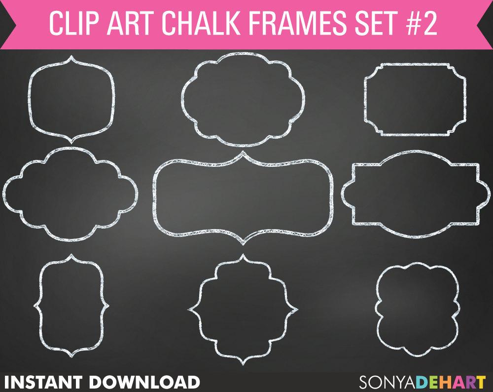 Chalk clipart frame. Chalkboard frames clip art