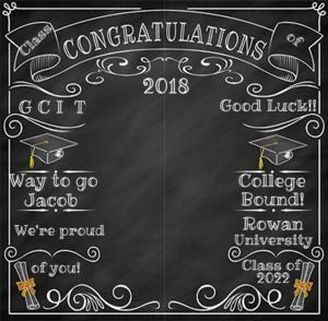 ft in chalkboard. Chalk clipart graduation