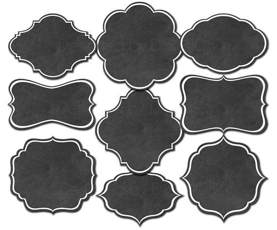Chalk clipart label. Chalkboard frames borders frame