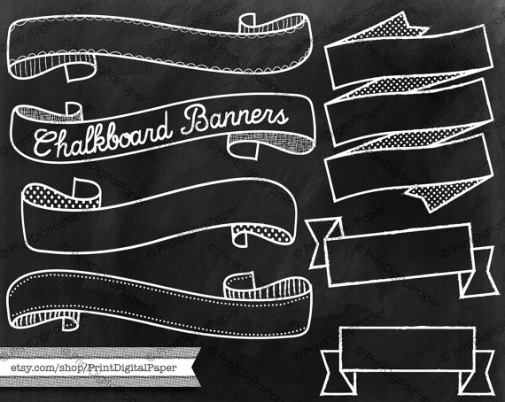 Banners clipart chalkboard. Download texture and clip