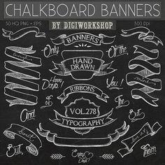 Chalk clipart ribbon. Free chalkboard clip art