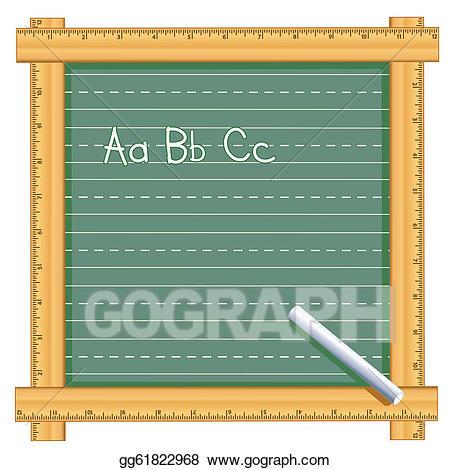 Clipart ruler chalk. Vector art frame chalkboard