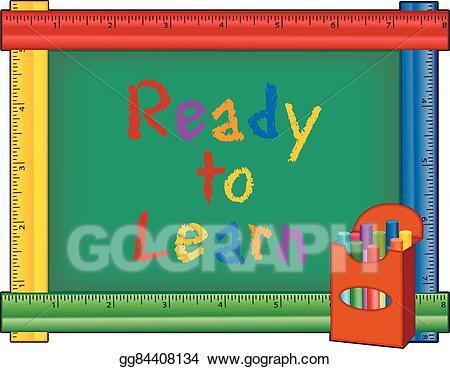 Vector stock ready to. Chalkboard clipart kindergarten